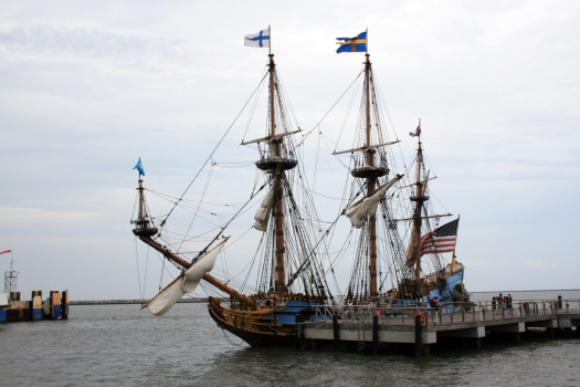 The Kalmar Nyckl at Lewes, Delaware. If you look closely you can see the modern navigation system. My how things have changed.