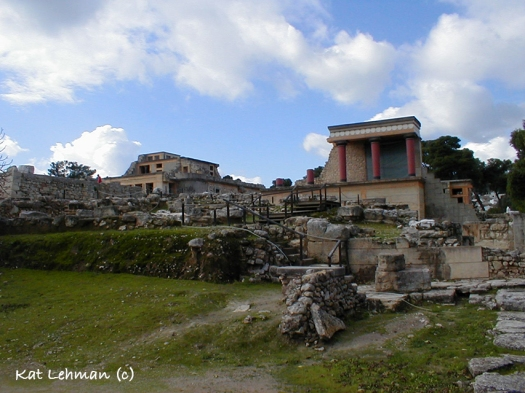 Minoan Palace of Knossos on Crete.