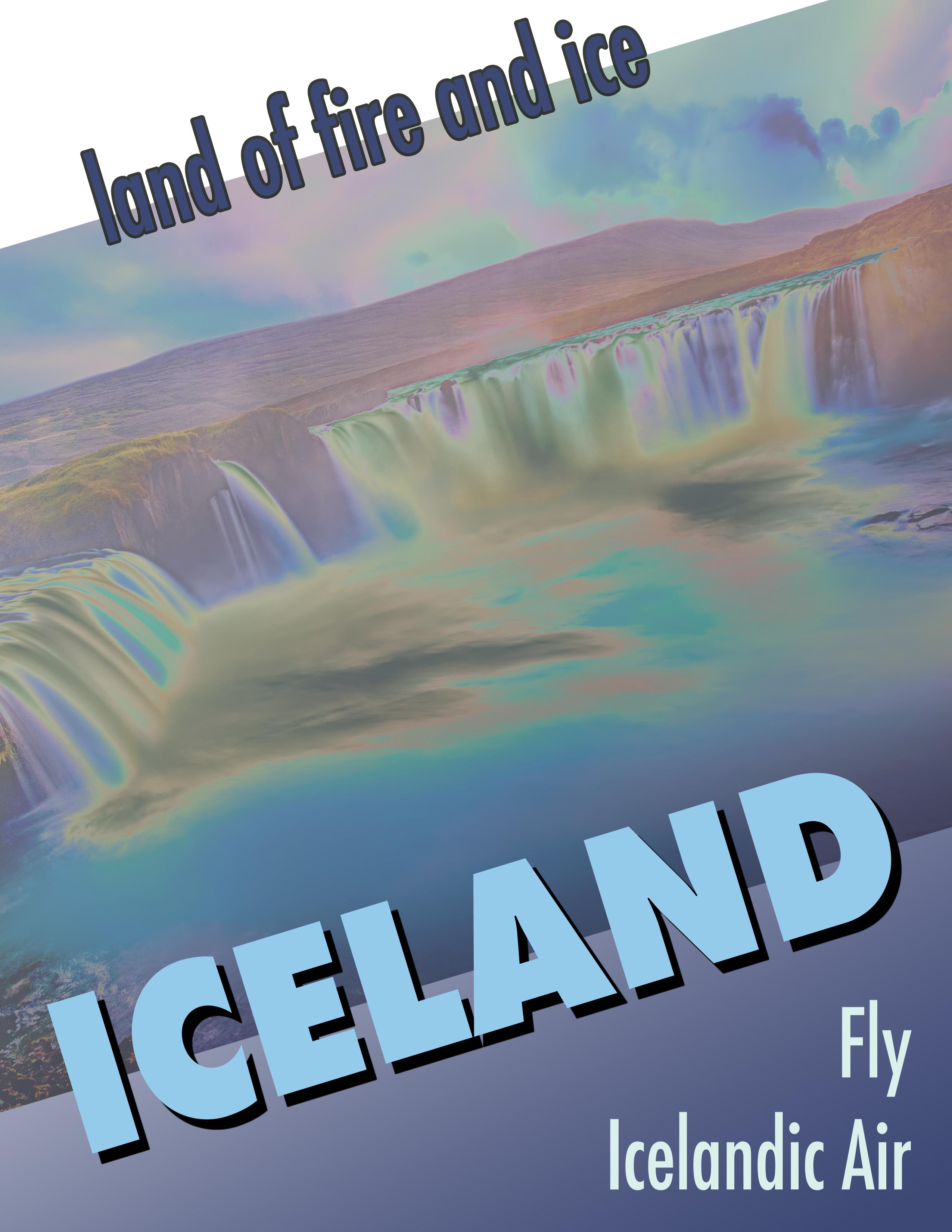 Iceland Travel Poster