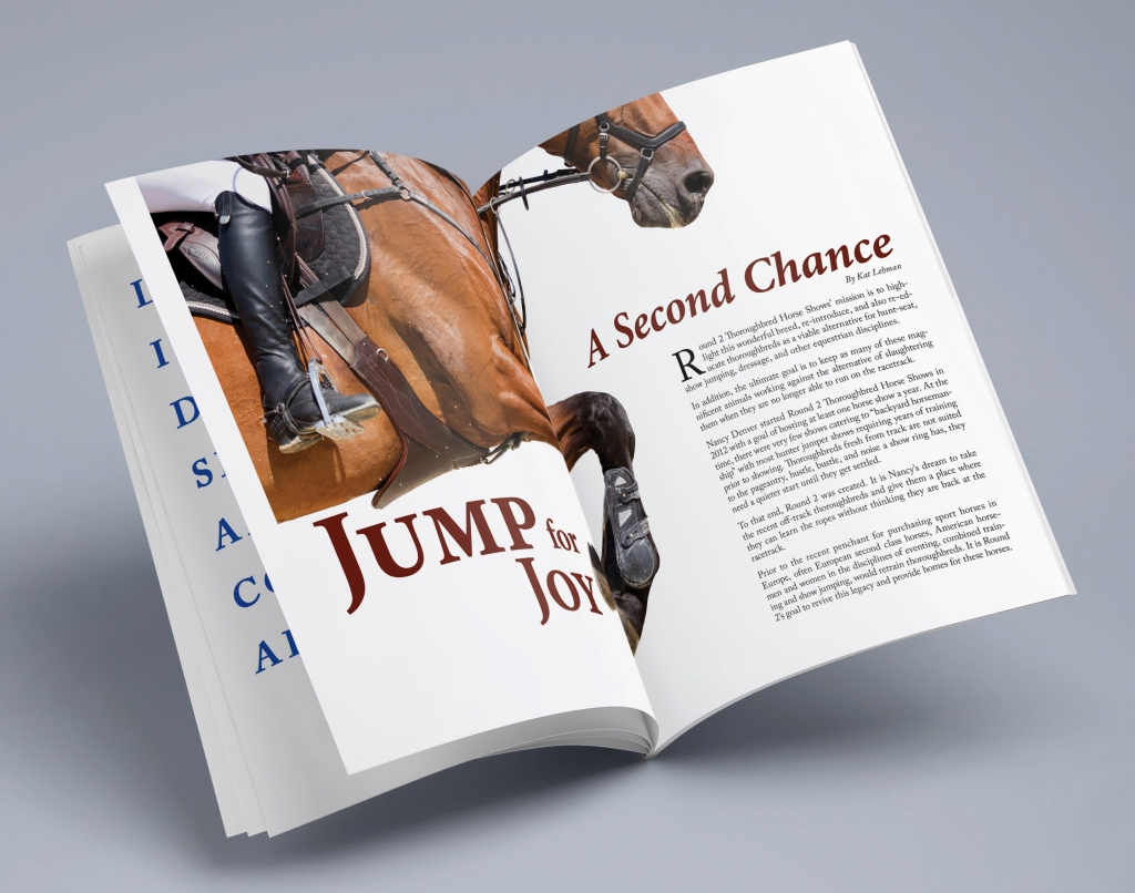 2-page magazine spread